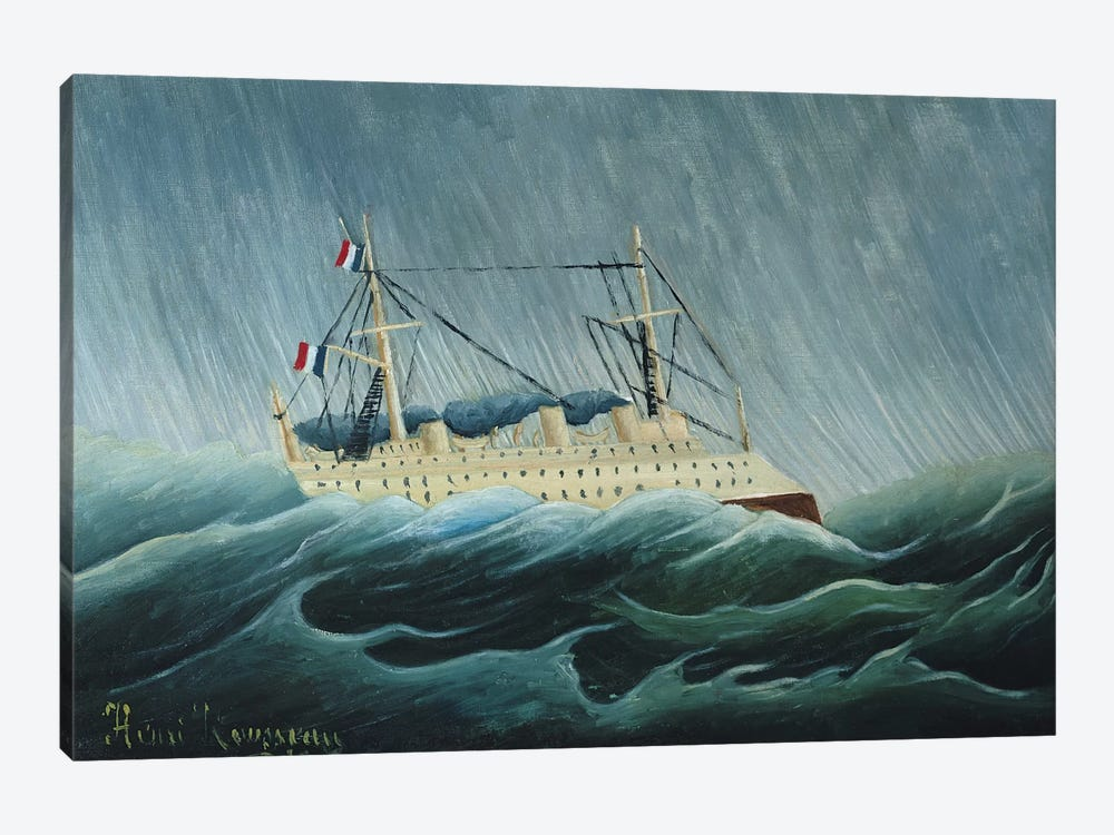 The Storm-Tossed Vessel, c.1899 by Henri Rousseau 1-piece Canvas Wall Art