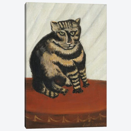 The Tabby Canvas Print #BMN6333} by Henri Rousseau Canvas Art Print