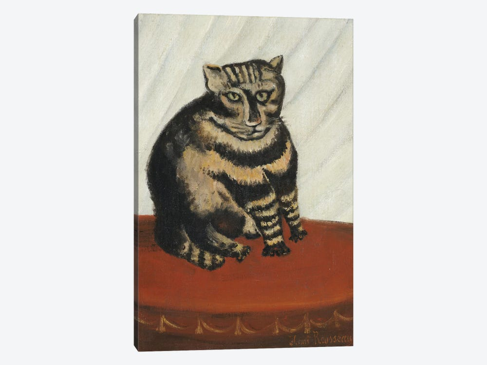 The Tabby by Henri Rousseau 1-piece Canvas Print