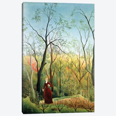 The Walk In The Forest, 1886-90 Canvas Print #BMN6334} by Henri Rousseau Canvas Artwork