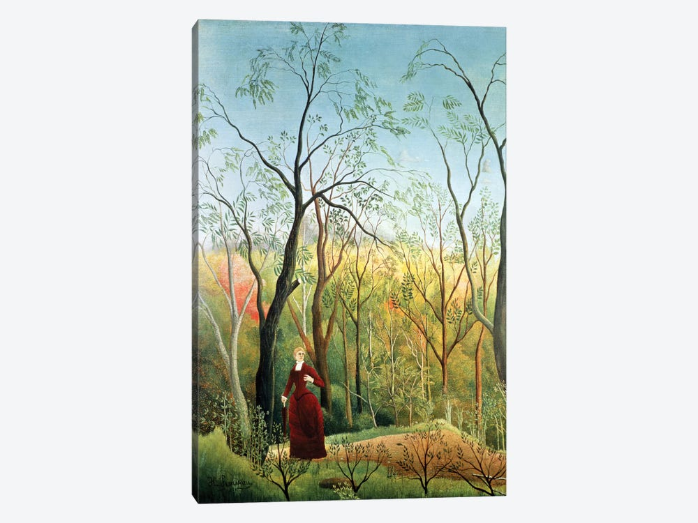 The Walk In The Forest, 1886-90 by Henri Rousseau 1-piece Canvas Art