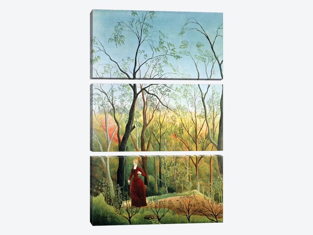 The Walk In The Forest, 1886-90 by Henri Rousseau 3-piece Canvas Artwork