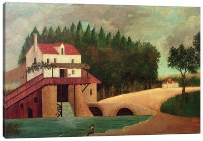 The Watermill Canvas Art Print