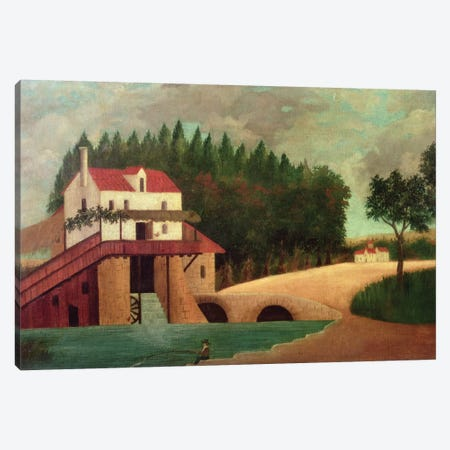 The Watermill Canvas Print #BMN6335} by Henri Rousseau Canvas Art