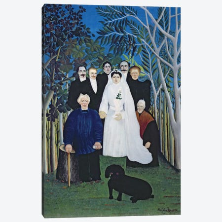 The Wedding Party, c.1905 Canvas Print #BMN6336} by Henri Rousseau Canvas Wall Art