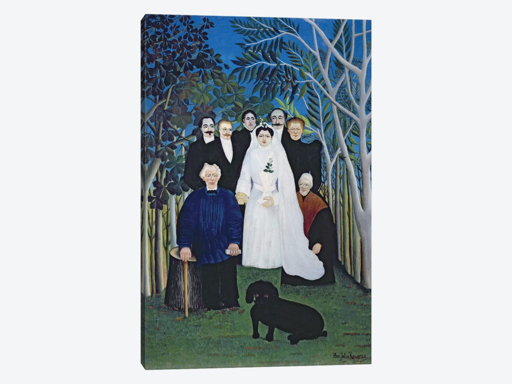 The Wedding Party, c.1905 by Henri Rousseau 1-piece Canvas Wall Art