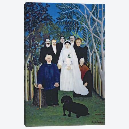 The Wedding Party, c.1905 Canvas Print #BMN6336} by Henri Rousseau Canvas Wall Art