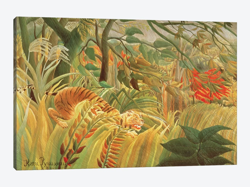 Tiger In A Tropical Storm (Surprised!), 1891 by Henri Rousseau 1-piece Canvas Artwork
