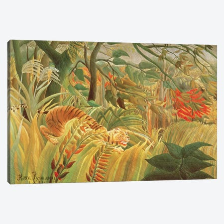 Tiger In A Tropical Storm (Surprised!), 1891 Canvas Print #BMN6338} by Henri Rousseau Art Print