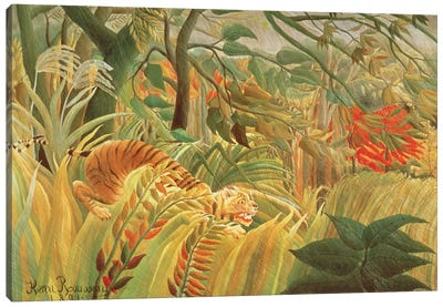 Tiger In A Tropical Storm (Surprised!), 1891 Canvas Art Print
