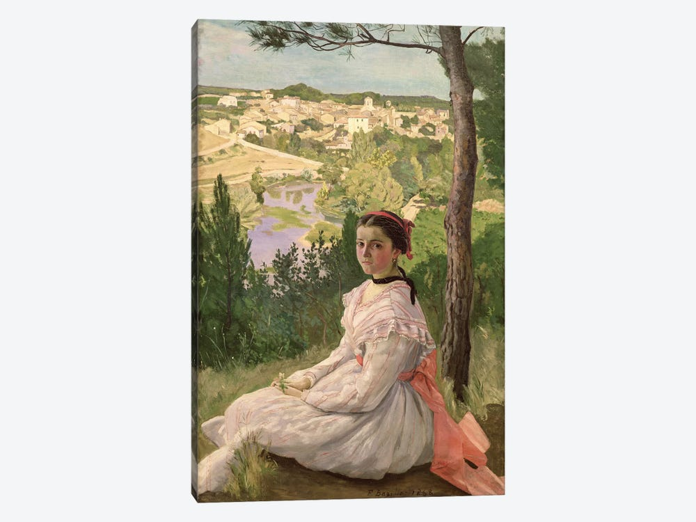 View of the village, Castelnau, 1868  by Jean Frederic Bazille 1-piece Canvas Art Print