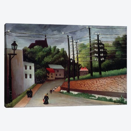 View OF Malakoff, Hauts-de-Seine, 1908 Canvas Print #BMN6342} by Henri Rousseau Canvas Wall Art