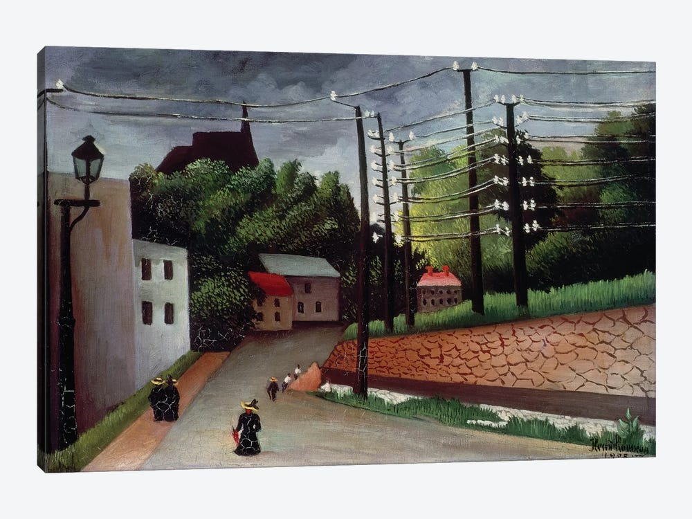 View OF Malakoff, Hauts-de-Seine, 1908 by Henri Rousseau 1-piece Art Print