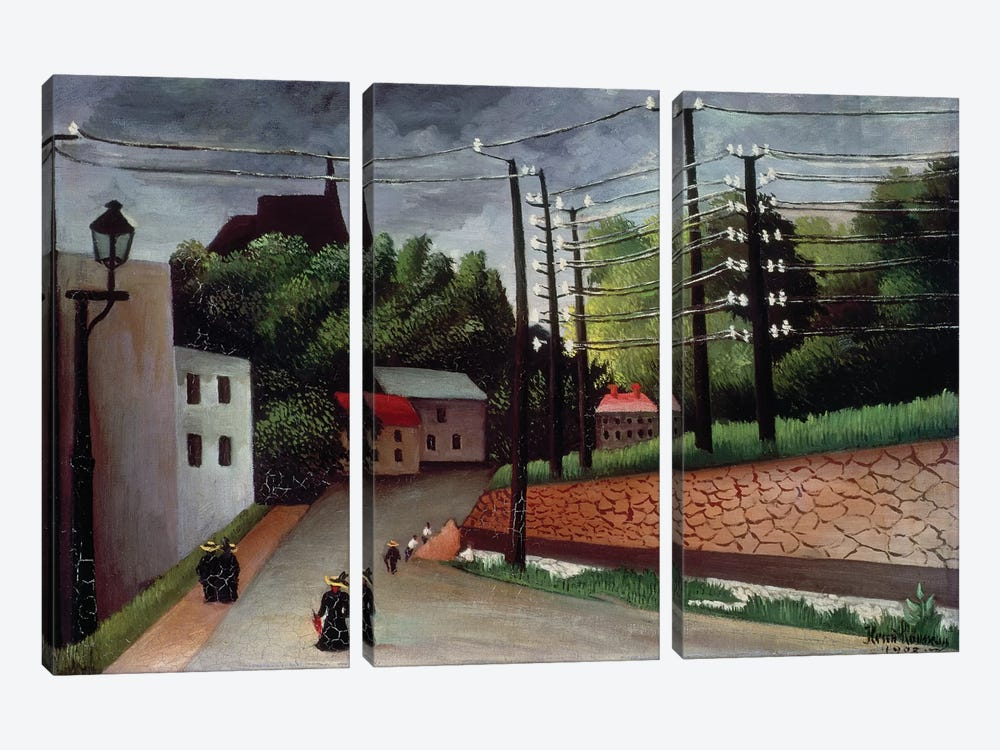 View OF Malakoff, Hauts-de-Seine, 1908 by Henri Rousseau 3-piece Art Print