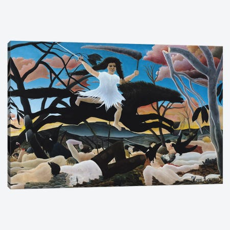 War, The Ride Of Discord, 1894 Canvas Print #BMN6344} by Henri Rousseau Canvas Art Print