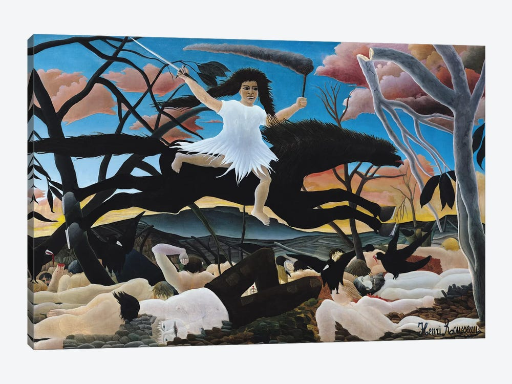 War, The Ride Of Discord, 1894 by Henri Rousseau 1-piece Canvas Print