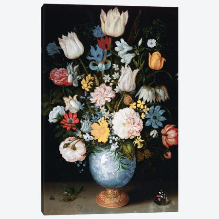 Bouquet Of Flowers, 1609 Canvas Print #BMN6347} by Ambrosius the Elder Bosschaert Art Print