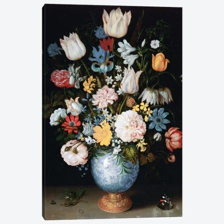 Bouquet Of Flowers, 1609 Canvas Print #BMN6347} by Ambrosius the Elder Bosschaert Art Print