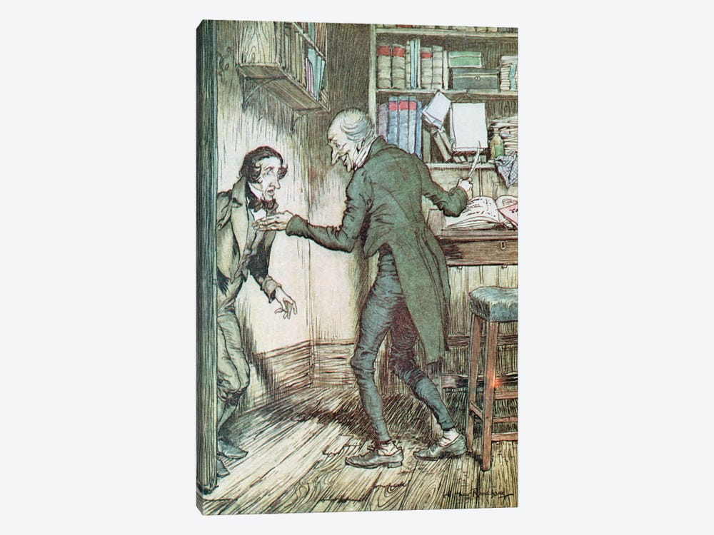 """Now, I'll Tell You What, My Friend,"" said Scrooge. ""I Am not Going To Stand This Sort Of Thing Any Longer."" (A Christmas Carol) by Arthur Rackham 1-piece Art Print"