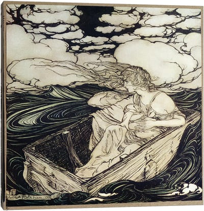 Danae And Her Son Perseus, 1903 Canvas Art Print