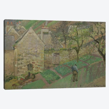 Hillside of the Hermitage, Pontoise, 1873  Canvas Print #BMN634} by Camille Pissarro Canvas Artwork