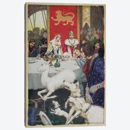 King Arthur's Wedding Feast, 1905 Canvas Print #BMN6350} by Arthur Rackham Canvas Art Print