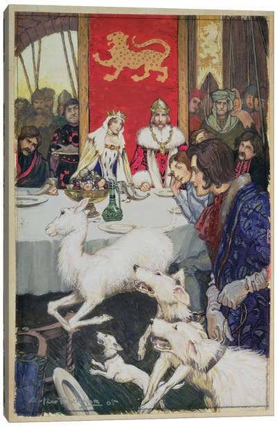 King Arthur's Wedding Feast, 1905 Canvas Art Print