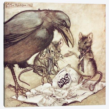 """Preposterous"", Cried Solomon In A Rage (Illustration from J.M. Barrie's Peter Pan In Kensington Gardens), 1906 Canvas Print #BMN6351} by Arthur Rackham Art Print"