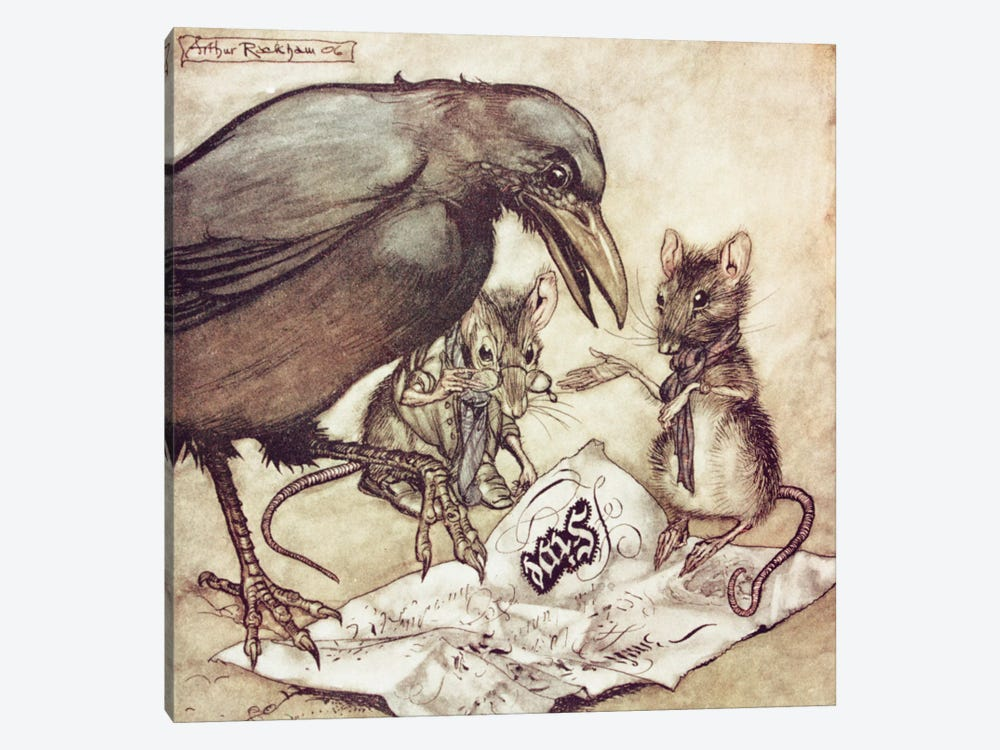 """Preposterous"", Cried Solomon In A Rage (Illustration from J.M. Barrie's Peter Pan In Kensington Gardens), 1906 by Arthur Rackham 1-piece Canvas Art Print"