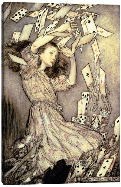 Alice And The Pack Of Cards (Illustration from Lewis Carroll's Alice's Adventures In Wonderland), 1907 Canvas Art Print