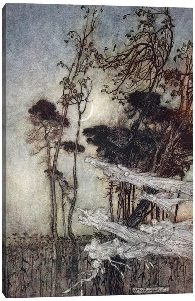 """""""… The Moon, Like To A Silver Bow New-Bent In Heaven"""" (Illustration From William Shakespeare's A Midsummer Night's Dream), 1908 Canvas Art Print"""