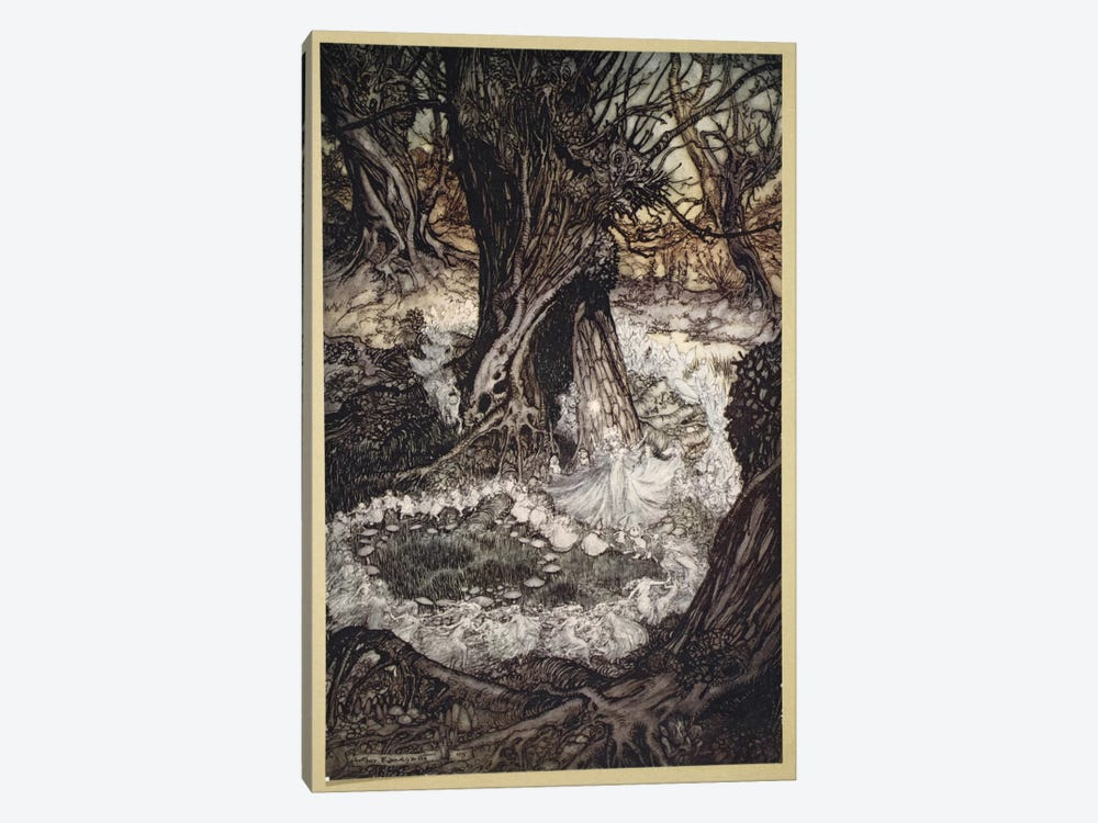 Come, Now A Roundel (Illustration From William Shakespeare's A Midsummer Night's Dream), 1908 by Arthur Rackham 1-piece Canvas Print