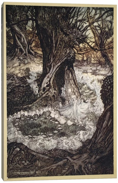 Come, Now A Roundel (Illustration From William Shakespeare's A Midsummer Night's Dream), 1908 Canvas Art Print