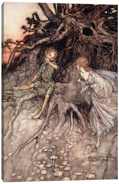 I Am That Merry Wanderer Of The Night (Illustration From William Shakespeare's A Midsummer Night's Dream), 1908 Canvas Print #BMN6358