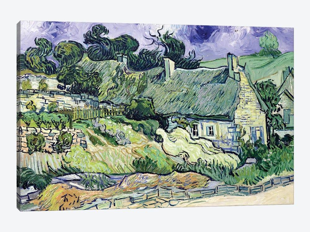 Thatched cottages at Cordeville, Auvers-sur-Oise, 1890  by Vincent van Gogh 1-piece Art Print
