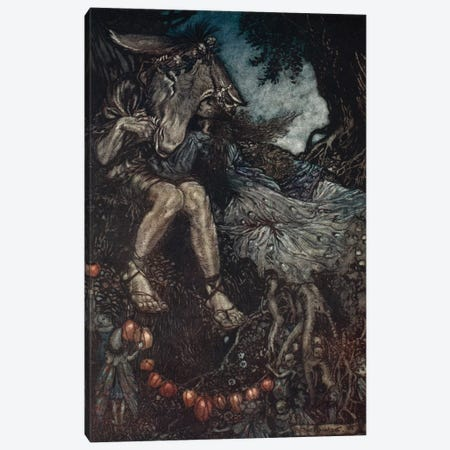 Sleep Thou, And I Will Wind Thee In My Arms (Illustration From William Shakespeare's A Midsummer Night's Dream), 1908 Canvas Print #BMN6360} by Arthur Rackham Canvas Artwork