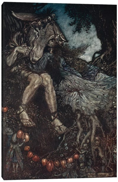 Sleep Thou, And I Will Wind Thee In My Arms (Illustration From William Shakespeare's A Midsummer Night's Dream), 1908 Canvas Art Print