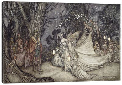The Meeting Of Oberon And Titania (Unused Illustration From William Shakespeare's A Midsummer Night's Dream), 1908 Canvas Print #BMN6362