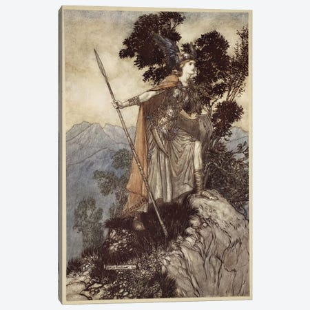 Brunnhilde (Illustration From Richard Wagner's The Rhinegold & The Valkyrie), 1910 Canvas Print #BMN6365} by Arthur Rackham Canvas Art Print