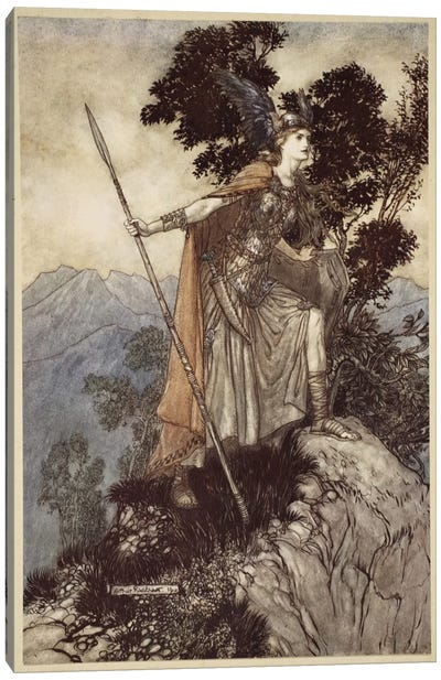 Brunnhilde (Illustration From Richard Wagner's The Rhinegold & The Valkyrie), 1910 Canvas Art Print
