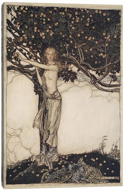 Freia, The Fair One (Illustration From Richard Wagner's The Rhinegold & The Valkyrie), 1910 Canvas Art Print