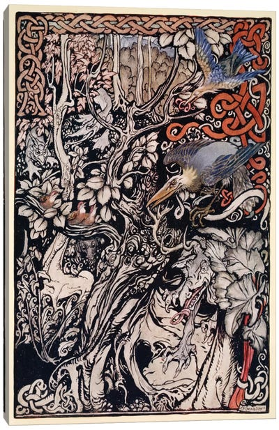 """""""Wild And Shy And Monstrous Creatures Ranged In Her Plains And Forests"""" (From James Stephens' Irish Fairy Tales), 1920 Canvas Art Print"""