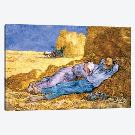 Noon, or The Siesta, after Millet, 1890  Canvas Print #BMN636} by Vincent van Gogh Canvas Artwork