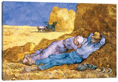 Noon, or The Siesta, after Millet, 1890  Canvas Print #BMN636