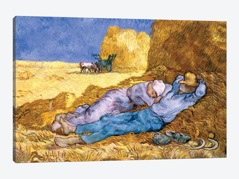 Noon, or The Siesta, after Millet, 1890  by Vincent van Gogh 1-piece Canvas Art