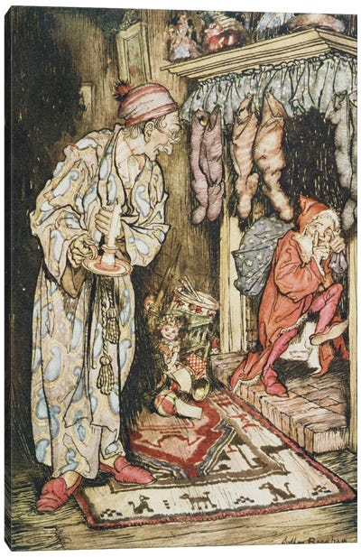Colour Plate I (Illustration from Clement C. Moore's The Night Before Christmas), 1931 Canvas Art Print