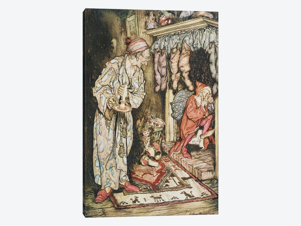 Colour Plate I (Illustration from Clement C. Moore's The Night Before Christmas), 1931 by Arthur Rackham 1-piece Canvas Artwork