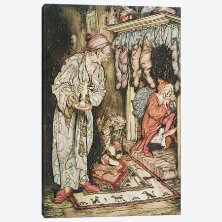 Colour Plate I (Illustration from Clement C. Moore's The Night Before Christmas), 1931 Canvas Print #BMN6372} by Arthur Rackham Canvas Art Print