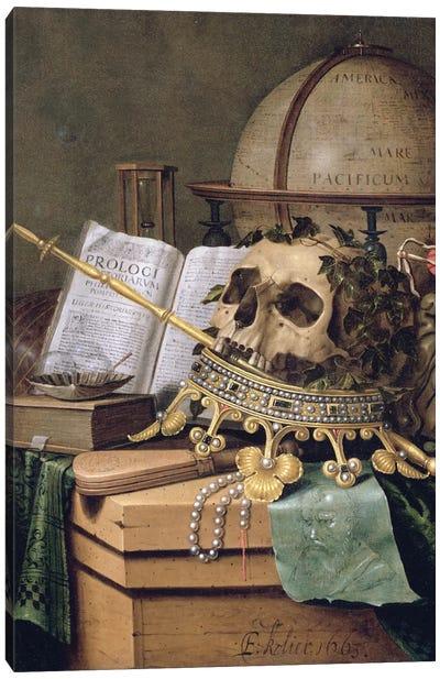 Vanitas (An Allegorical Still Life) Canvas Art Print