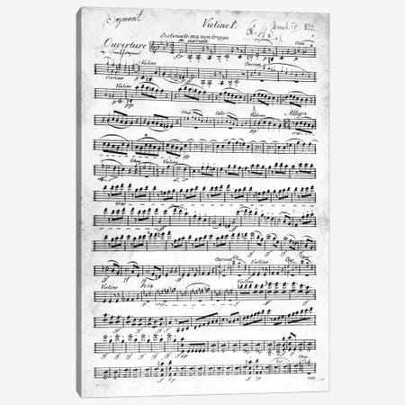 Score Sheet For The Overture To Egmont By Ludwig van Beethoven, 1809-10 Canvas Print #BMN6377} by German School Canvas Wall Art